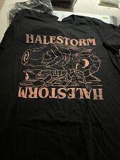 Halestorm 2019 Tour T Shirt Black Canvas Brand Graphic (m)