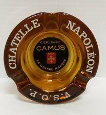 Vintage Camus Cognac Amber Glass Ashtray Collectable La Grande Marque