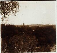 ITALIE Monte Oliveto Abbaye Monastère, Photo Stereo Plaque Verre ca 1910