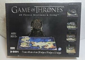 Game of Thrones 4D Puzzle of Westeros and Essos 891Pieces New. Sealed.