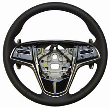13-17 Cadillac ATS Steering Wheel Black Leather W/Paddle Shift 23114444 84111905