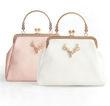 Female Lolita Pink Shoulder Bag Square Swagger Clasp Bag With Metal Chain