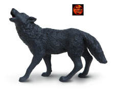 BLACK WOLF HOWLING WILDLIFE TOY MODEL by SAFARI LTD 181129 *NEW WITH TAG*