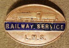 Original WW2 London Midland Scotland Railway L.M.S Lapel Badge.