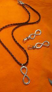 infinitely set necklace +6 zip pulls #140