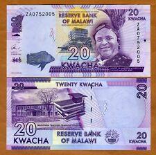 Malawi, 20 Kwacha, 2016, P-63r, UNC > ZA - REPLACEMENT