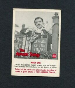 1964 The Addams Family TV Show Donruss Trading Card Number 18 Gomez & Thing