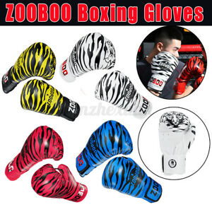Boxing Gloves Training Protector Punch Bag Adjustable Hand Wraps Leather