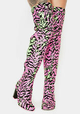 Irregular Choice 'Hot Stuff' (A) Colour Changing Thigh High Sequin Boots Shoes