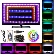 RGB 5050 LED TV Backlight Tape Fairy Strip Lights 5M with Remote Color Changing