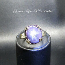 9ct Gold Natural Purple Star Sapphire Ring Size U 11.5g 14.5 carats 6 rays