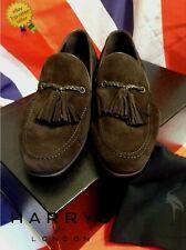 HARRYS OF LONDON Kudu Suede Loafers UK4.5 US5.5 EU38.5 *BNWB* Espresso HARRODS