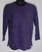 Women's Medium REQUIREMENTS Violet Purple Knit Long sleeve Top