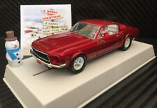 """Pioneer """"Santa's Stang"""" Red 1968 Ford Mustang 390 GT 1/32 Scale Slot Car P037"""
