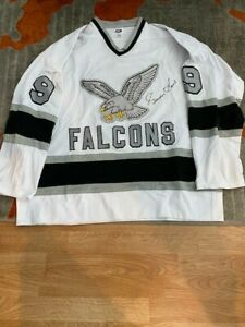 Michigan Falcons Jersey signed by Gordie Howe