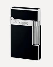NEW ST Dupont Ligne 2 Black Natural Chinese Lacquer & Palladium Lighter S.T.