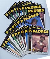 1986 Topps Padres 29 Card Team Set