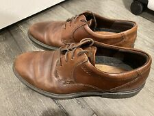 ECCO Mens Size 13 Brown Lace up Casual Dress Shoes