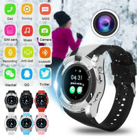 V8 bluetooth Smart Watch Touch Screen Men Women SIM Card Sport For Android IOS U