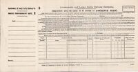 Irish Londonderry and Lough Swilly Railway Company Goods Consign Note Ref 44806