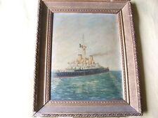 GIOVANNI CABELLA - Regia Nave da Battaglia A.di Saint Bon - olio su tavola 1903