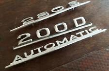 alte Mercedes Schriftzüge Metall Empleme,  Metall Schriftzug Mercedes