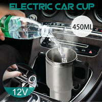 450ML In Car Electric Kettle Stainless Steel Insulation Coffee Cup Mug Camping