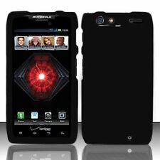 Black Motorola DROID RAZR MAXX XT913 Faceplate Snap-on Phone Hard Cover Case