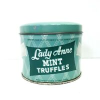 Lady Anne Mint Truffles Tin Vintage Candy Advertising Collectible Empty *READ*