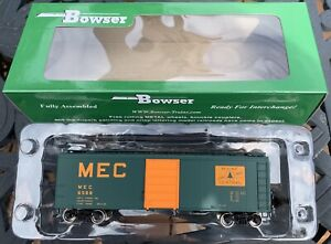 BOWSER HO SCALE MAINE CENTRAL 40' GREEN BOX CAR RTR - ROAD #6588 - ITEM #42444