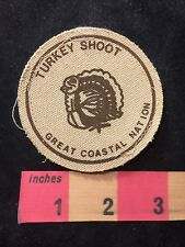 1980's COLOR 1 TURKEY SHOOT GREAT COASTAL NATION Canvas Patch Calif. YMCA 85N2