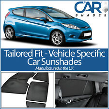 Ford Fiesta 3dr 08-17 UV CAR SHADES WINDOW SUN BLINDS PRIVACY GLASS TINT BLACK