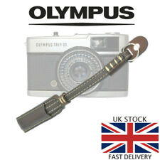 Deluxe COFFEE Leather Camera Hand Wrist Strap Olympus Trip 35 35RC 35ED PEN 35SP