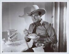 Bob Livingston Stony Brooke Three Mesquiteers western series eats Wheaties 8x10