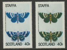 GB Locals - Staffa 909671 - 1979 BUTTERFLY 40p - two superb shades mnh