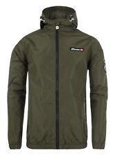 Ellesse Terrazzo Lightweight Casual Mac Jacket Mens Hooded Winter Coat Khaki