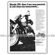 PUB HONDA CB 750 FOUR - Original Advert / Publicité Moto de 1970