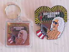 GRATEFUL DEAD - WHEEL OF DEAD KEY CHAIN AND 2 inch PIN COMBO