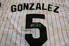 CARLOS GONZALEZ AUTOGRAPHED SIGNED COLORADO ROCKIES JERSEY WHITE COA A66