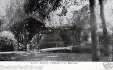 Champaign Urbana University of Illinois Rustic Bridge 1911 Vintage 1¢ Franklin