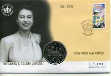 Coin Cover 2002, Golden Jubilee, British Virgin Islands $1 coin 5144
