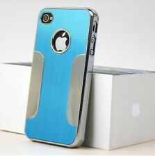 LUXURY BRUSHED ALUMINIUM Chrome HARD Case / Cover for Apple iPhone 4 4G 4S