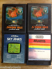 Atari Cart Only Lot Of 4! Star Raiders X2/Atlantis/Sky Jinks! Tested! Works!