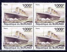 Burundi 2011 MNH Blk 4, Titanic, Ships  (A7n)