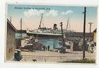 Steamer Docking At Yarmouth Nova Scotia Canada Vintage Postcard US046