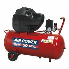 Sealey Compressor 50ltr V-twin Belt Drive 3hp Oil Sac05030f