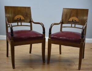 Pair Mahogany Regency Style Chairs