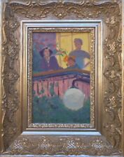ON THE BALCONY,Armenia,Soviet Impressionist Painting,Armenian Art,HARUTYUNYAN