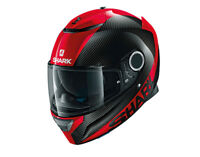 SHARK SPARTAN CARBON SKIN RED  MOTORCYCLE HELMET FULL FACE #HE5000EDRR
