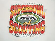 Vintage Boy Scouts Super Bowl of Scouting 1997 90's Texas Stadium T Shirt XL